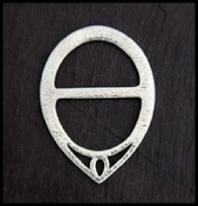 Pewter Scarf Ring Eccentric Circle